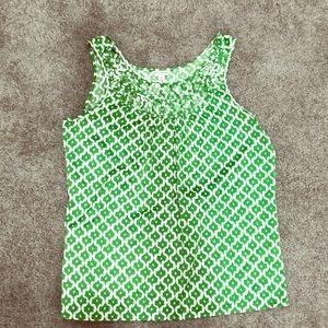 Green Sleeveless Shell Top size medium